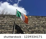 Stock photo irish flag flying in the wine in kilmainham gaol in dublin ireland 1239334171