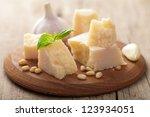 parmesan cheese | Shutterstock . vector #123934051