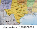 texas state on the map | Shutterstock . vector #1239360031