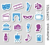 culture stickers | Shutterstock .eps vector #123937021