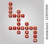 alphabet,block,concept,crossword,diet,education,fitness,food,health,illustration,lean,letter,quiz,red,scrabble