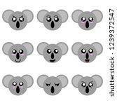 collection of cartoon koala... | Shutterstock .eps vector #1239372547