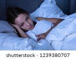 girl suffering from insomnia...   Shutterstock . vector #1239380707