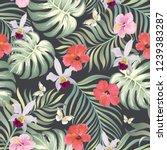 tropical vector seamless... | Shutterstock .eps vector #1239383287