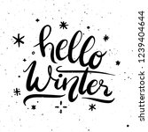 hello winter decorative...   Shutterstock .eps vector #1239404644