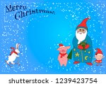 christmas illustration with... | Shutterstock .eps vector #1239423754