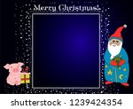 christmas illustration with... | Shutterstock .eps vector #1239424354