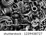 steampunk texture  backgroung... | Shutterstock . vector #1239438727