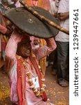barsana  india   february 24 ... | Shutterstock . vector #1239447661