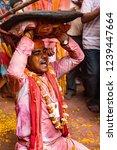 barsana  india   february 24 ... | Shutterstock . vector #1239447664