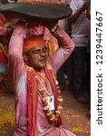 barsana  india   february 24 ... | Shutterstock . vector #1239447667
