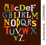 alphabet design. vector... | Shutterstock .eps vector #123946081