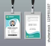 corporate id card design... | Shutterstock .eps vector #1239501337