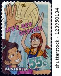 australia   circa 2009  a stamp ... | Shutterstock . vector #123950134
