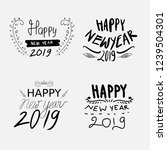 set of hand drawn happy new... | Shutterstock .eps vector #1239504301