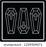 coffin logo simple | Shutterstock . vector #1239509071