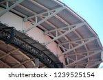 big stadium steel plate roof...