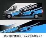 van wrap design for company ... | Shutterstock .eps vector #1239535177
