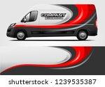 van wrap design for company ... | Shutterstock .eps vector #1239535387