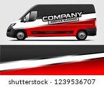 van wrap design for company ... | Shutterstock .eps vector #1239536707