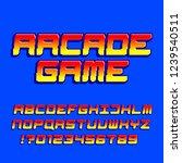 arcade computer game alphabet... | Shutterstock .eps vector #1239540511