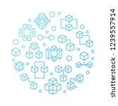 blockchain technology vector...   Shutterstock .eps vector #1239557914