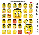 emoji vector set collection in... | Shutterstock .eps vector #1239559234