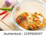 steamed seafood with curry... | Shutterstock . vector #1239560437
