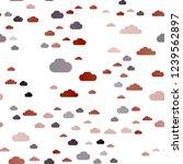 dark orange vector seamless... | Shutterstock .eps vector #1239562897