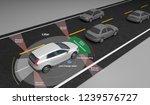 autonomous self driving... | Shutterstock . vector #1239576727