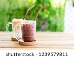 iced chocolate and iced coffee... | Shutterstock . vector #1239579811