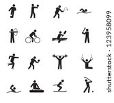 a set of sport icons | Shutterstock .eps vector #123958099
