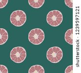 fruit seamless pattern with... | Shutterstock .eps vector #1239597121