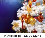 branch of white artificial... | Shutterstock . vector #1239612241