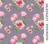 romantic seamless pattern with... | Shutterstock . vector #1239618784