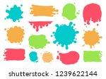 hand drawn set of paint...   Shutterstock .eps vector #1239622144