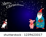 christmas illustration with... | Shutterstock .eps vector #1239623317