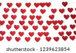red paper heart hanging on the... | Shutterstock . vector #1239623854