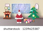 christmas room interior with...   Shutterstock .eps vector #1239625387