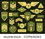 military badges. american army... | Shutterstock .eps vector #1239636361
