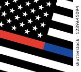 vector thin blue line   red... | Shutterstock .eps vector #1239645094