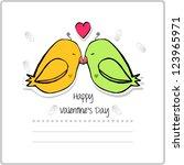 valentine's day | Shutterstock .eps vector #123965971