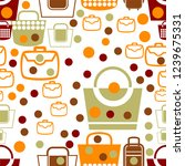 seamless pattern vintage vector | Shutterstock .eps vector #1239675331