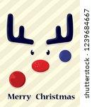 christmas deer. merry christmas ... | Shutterstock .eps vector #1239684667