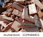 natural wood. texture with log ... | Shutterstock . vector #1239686821