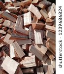 natural wood. texture with log ... | Shutterstock . vector #1239686824
