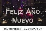 greeting card feliz ano nuevo ... | Shutterstock . vector #1239697507