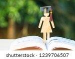 back to school concept  woman... | Shutterstock . vector #1239706507
