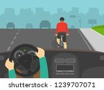 driving a car. hands holding a... | Shutterstock .eps vector #1239707071