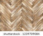 parquet herringbone bleached... | Shutterstock . vector #1239709084